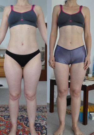 снимки преди и след отслабване