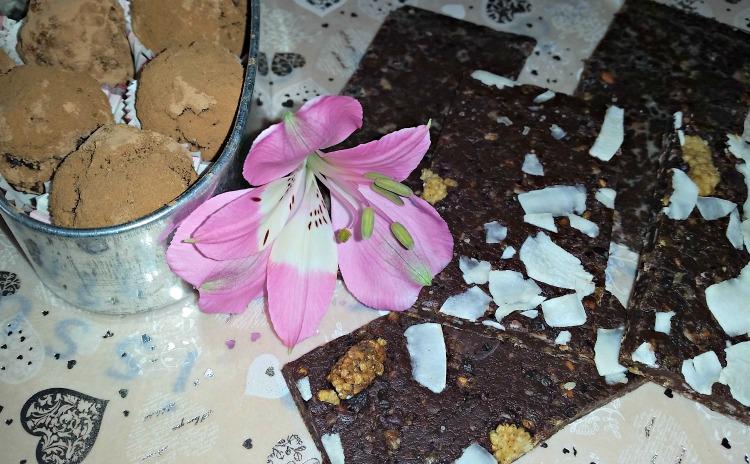 сурови шоколадови бонбони
