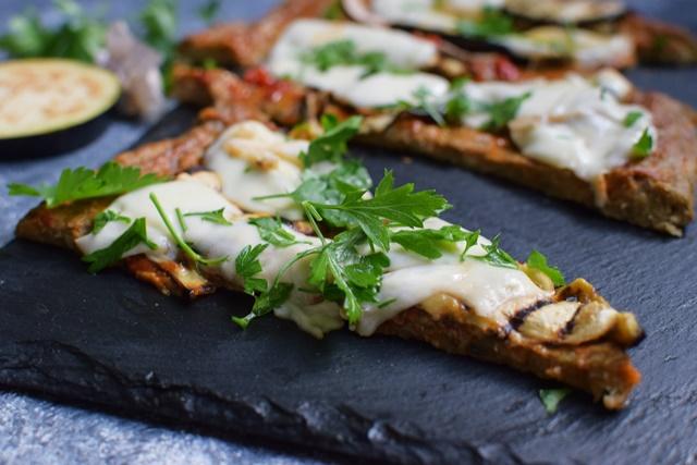Пица с блат от патладжан